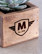 Personalised Succulent In Mini Crate