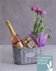 Lilac Tulips with Gourmet Goodies
