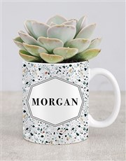 Personalised Succulent Named Mug