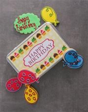 Birthday Gerbera Plant and Cookie Tin