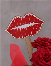 Red Rose Bush Kisses