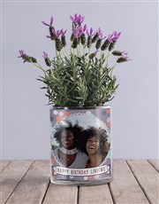 Personalised Birthday Lavender Vase