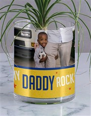 Personalised Daddy Rocks Ponytail Palm