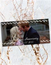 Personalised Begonia Anniversary Photo Vase