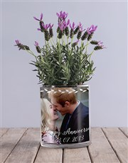 Anniversary Lavender Photo Vase