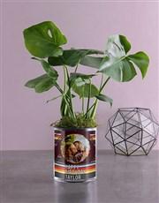Personalised Monster Leaf in Vase