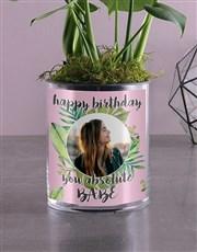 Personalised Birthday Monster Leaf