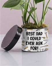 Best Dad Monsteria Hat Box