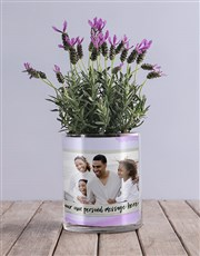 Personalised Lavender Message And Photo Vase