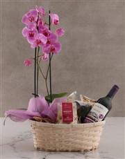 Wine Not Orchid Hamper