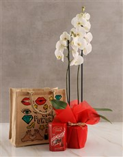 Girl Power Orchid Tote Hamper