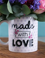 With Love Purple Floral Arrangement Mug