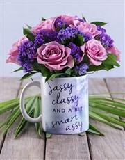 Sassy Classy Floral Mug Arrangement