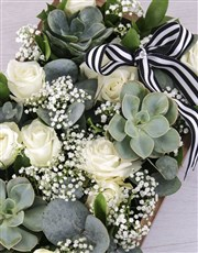 Mixed White Rose Crate