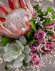 King Protea and Mixed Flowers