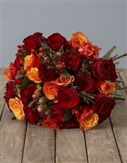 Cherry Brandy and Red Roses with Safari Bouquet