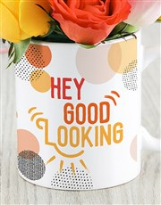 Hey Good Looking Floral Mug