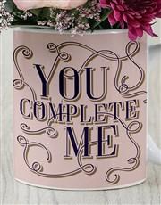 You Complete Me Floral Mug