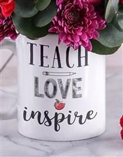 Teach and Inspire Floral Mug