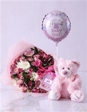 Baby Girl Teddy Bouquet
