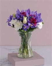 White Lilies and Iris Flair
