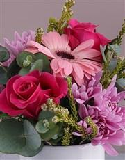 Cerise Boss Lady Floral Mug