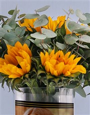 Personalised Thank You Sunflower Arrangement