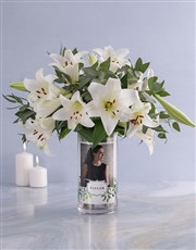 Personalised Saint Joseph Lilies in Vase