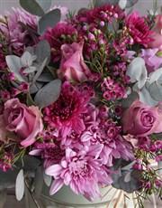 Lilac Roses In A Garden Bucket