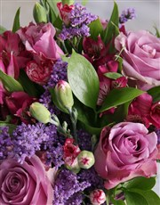 Lilac Floral Mix In Purple Vase