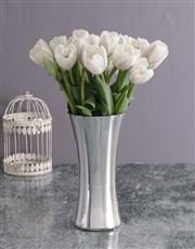 Elegant White Tulip Delights