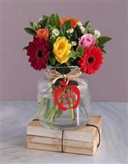 Joy Christmas Flower Vase