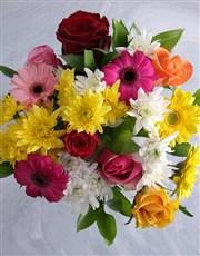 Happy Birthday Floral Bright Vase