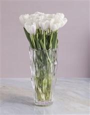 White Elegant Tulip Arrangements