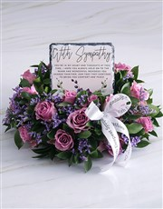 Purple Sympathy Wreath And Slate