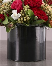 Champagne and  Roses in Hatbox