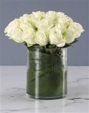 Pure White Rose Arrangement