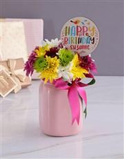 Personalised Happy Birthday Spray Jar