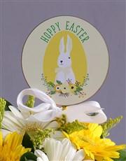 Easter Sunshine Gerberas in Polka dot pot