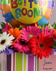 Personalised Feel Better Arrangement In A Box