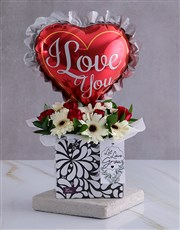 Personalised I Love You Arrangement In A Box
