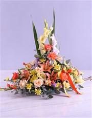 Colourful Gladioli Ikebana Design Arrangement