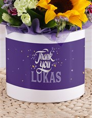 Personalised Thank You Sunflower Box