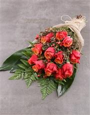 Rustic Cherry Brandy Rose Bouquet