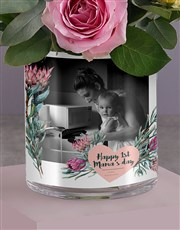 Personalised Florals For Mom Photo Vase