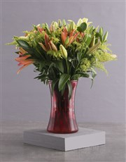 Royal Sunset Lily Arrangement