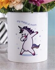 Magical Mom Unicorn Flower Mug