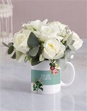 Tea Riffic White Rose Mug