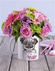 Flower Pug Mug