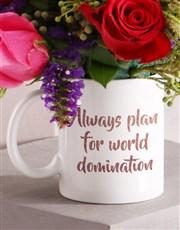World Domination Floral Mug